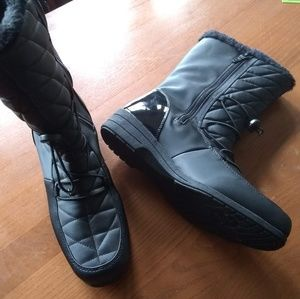 Totes Black Winter Boots New